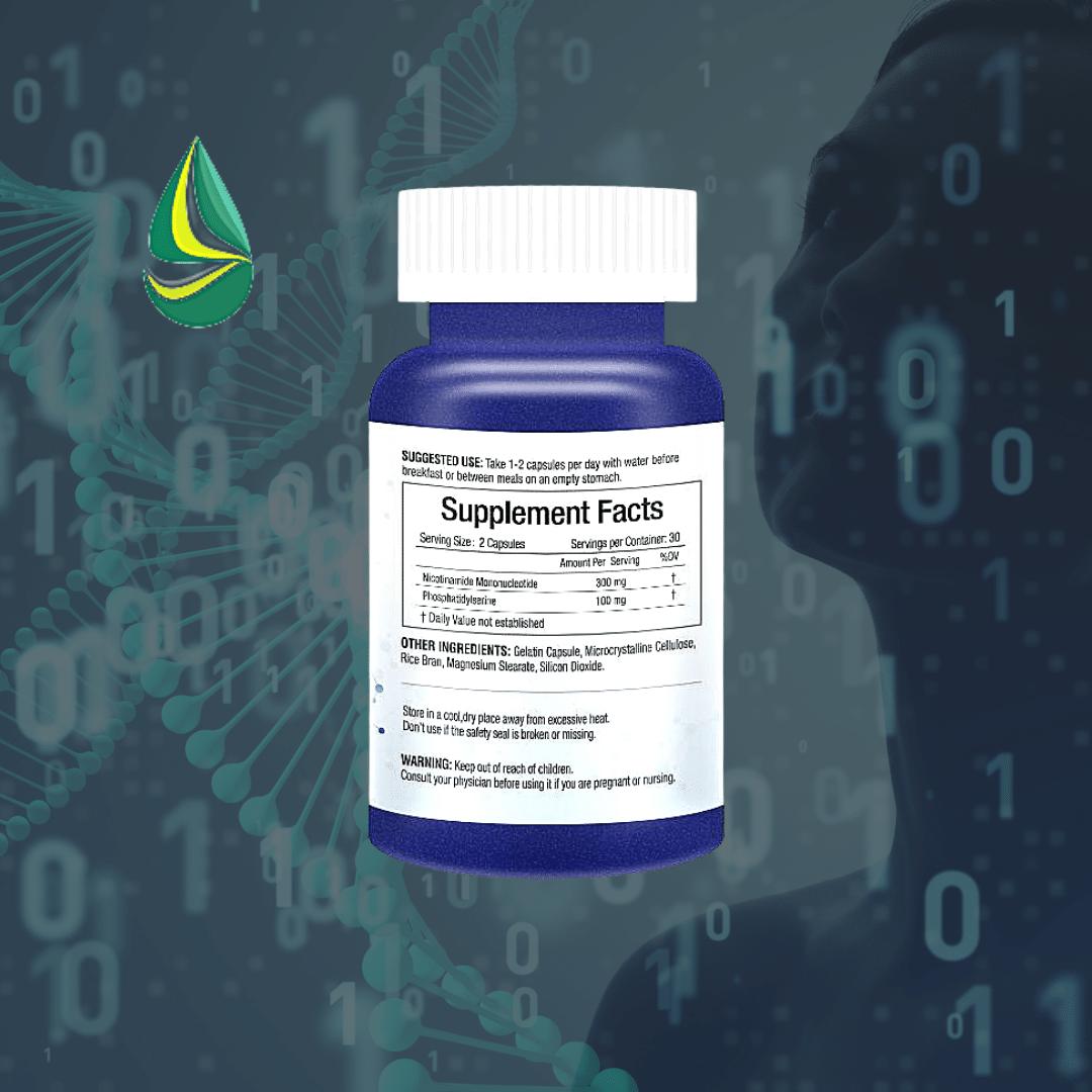 美國雲杉 SPRUCE NMN9000 基因修復複方膠囊 supplement facts
